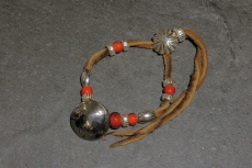 Beads Bracelet with 5 cent Coi...