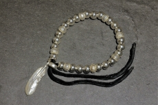 Beads Bracelet with Feather S ...